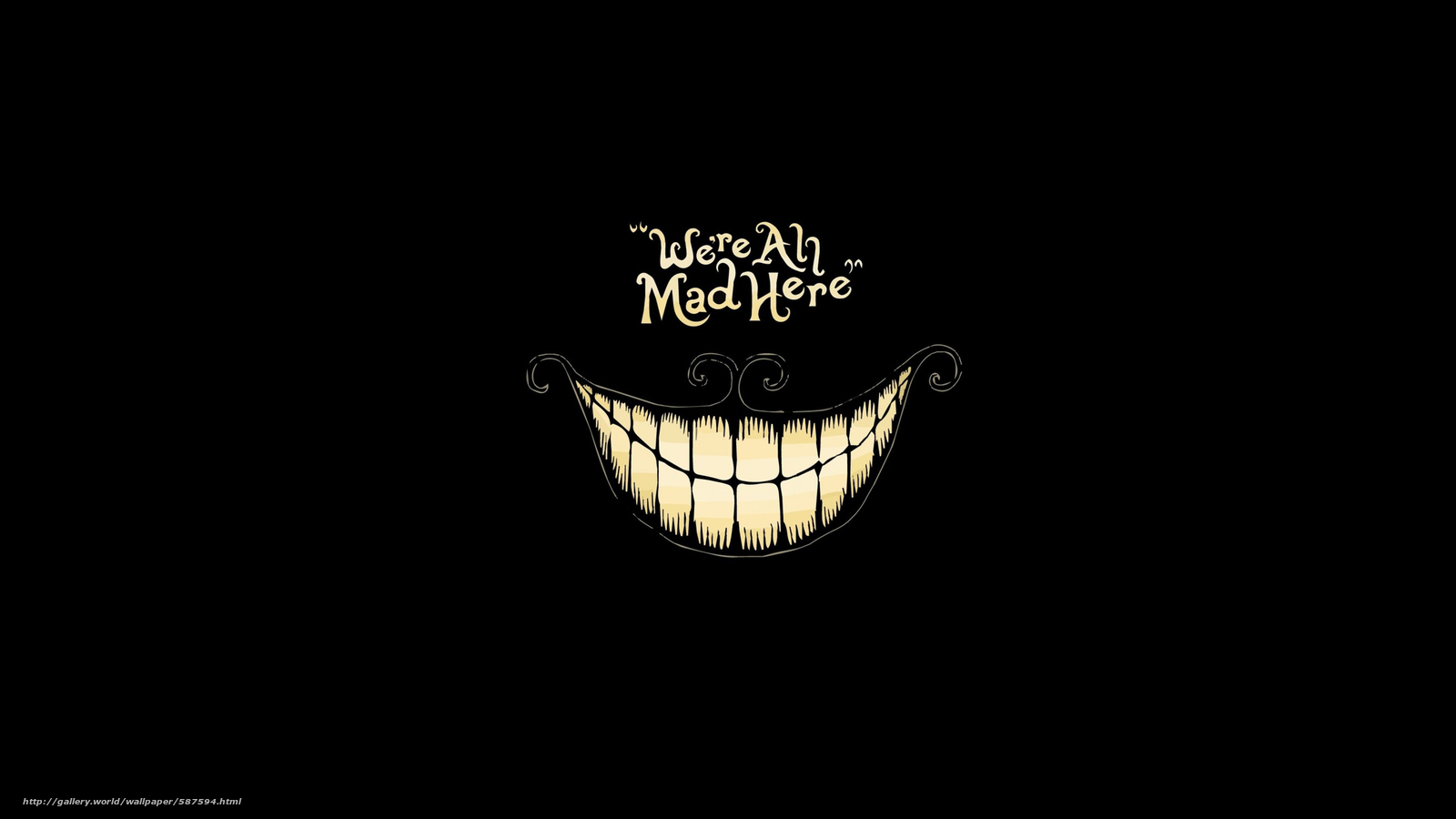 надпись, черный фон, минимализм, улыбка