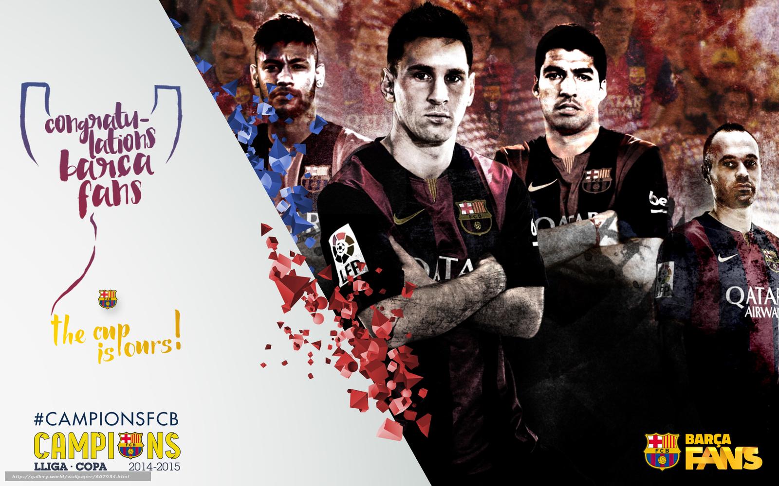 футбол, FC Barcelona, 2015, Copa del Rey, Champions, команда