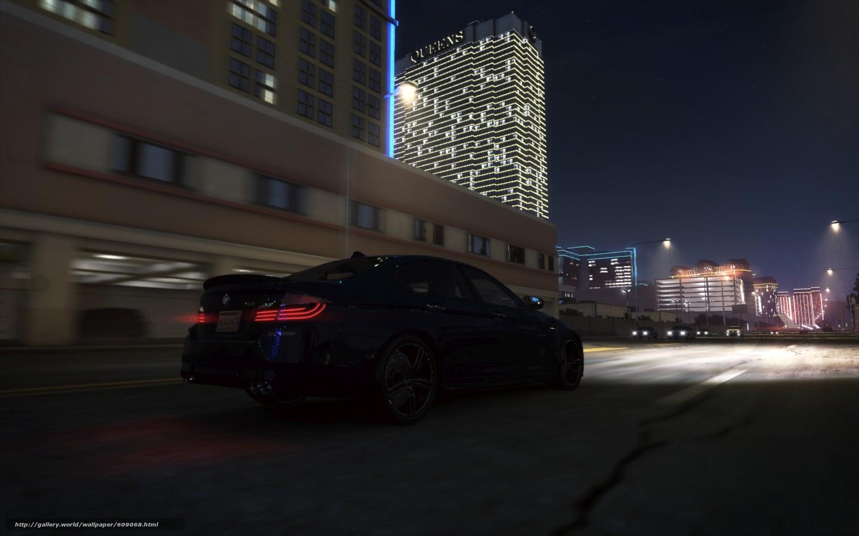Ночь, bmw, бмв, авто, город