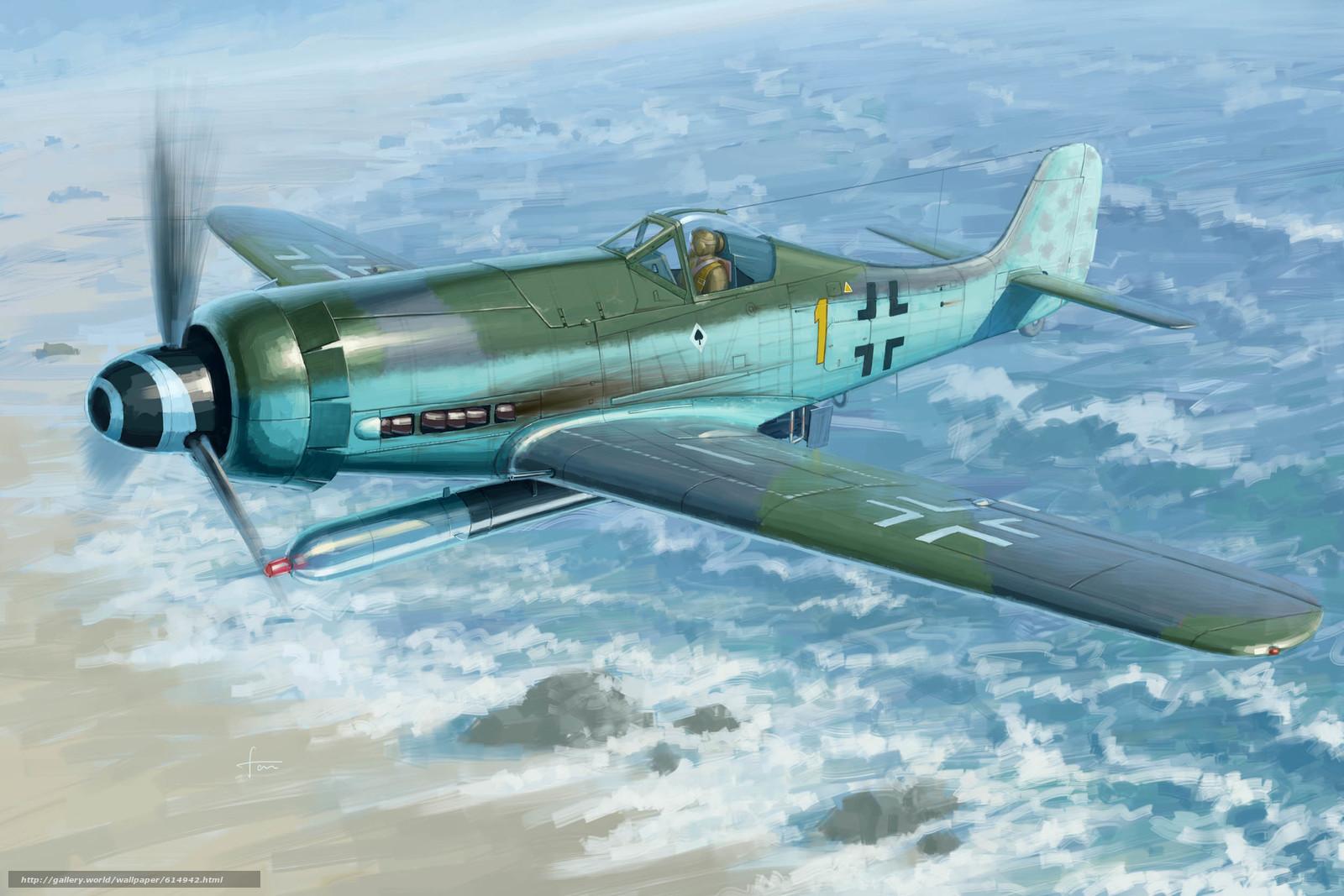 арт, Самолет, Люфтваффе, Германия, Focke-Wulf FW190D-12 R14