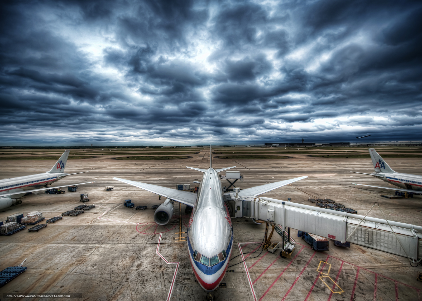 самолет, авиация, небо, тучи, грозовое небо, аэропорт
