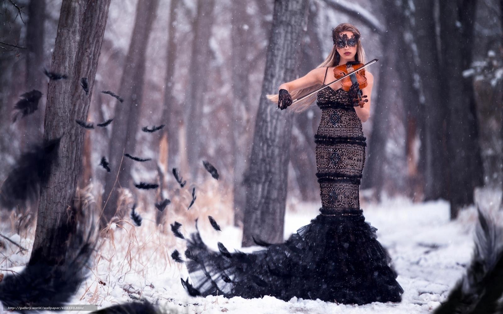 Зима фото девушки в платьях