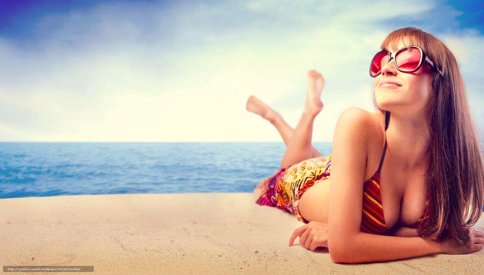Солнце пляж девушки 20 фотография