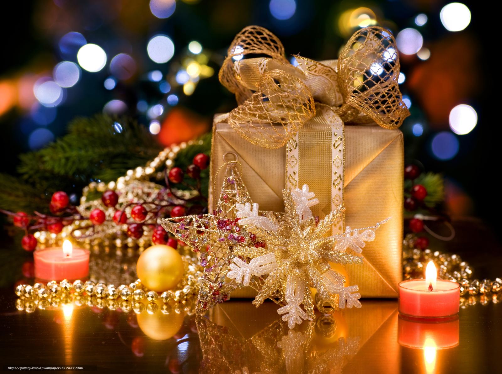 новый, год, украшения, подарки