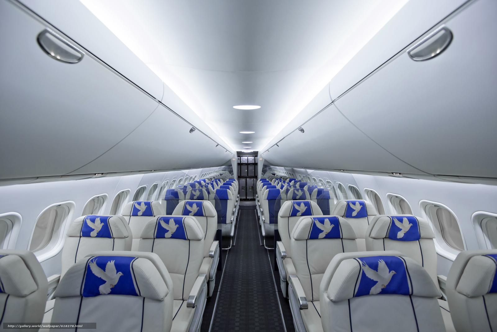 Пассажирский, салон, самолет, МС-21, ЯК, авиация, кресло, голубь
