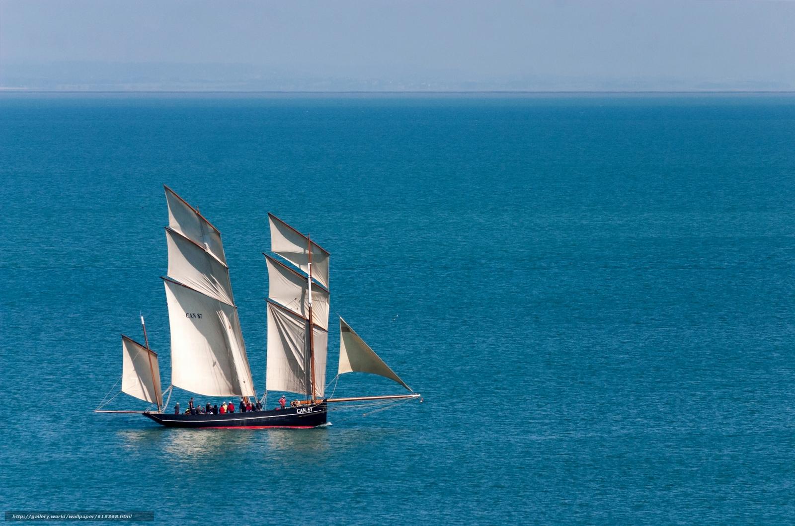 La Cancalaise, парусник, люггер, море