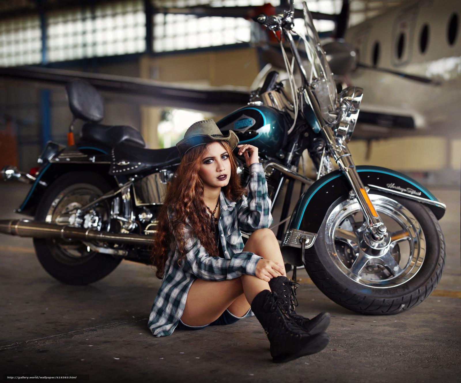 Русские девушки и мотоциклы 17 фотография