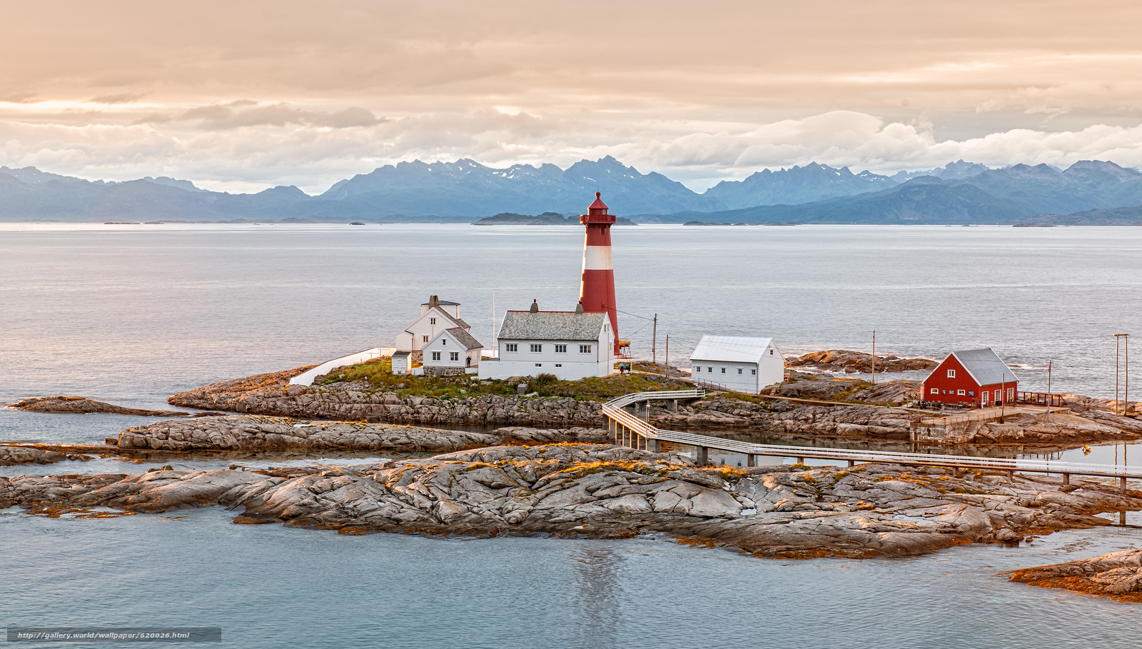 норвегия, маяк, скалы, пейзаж