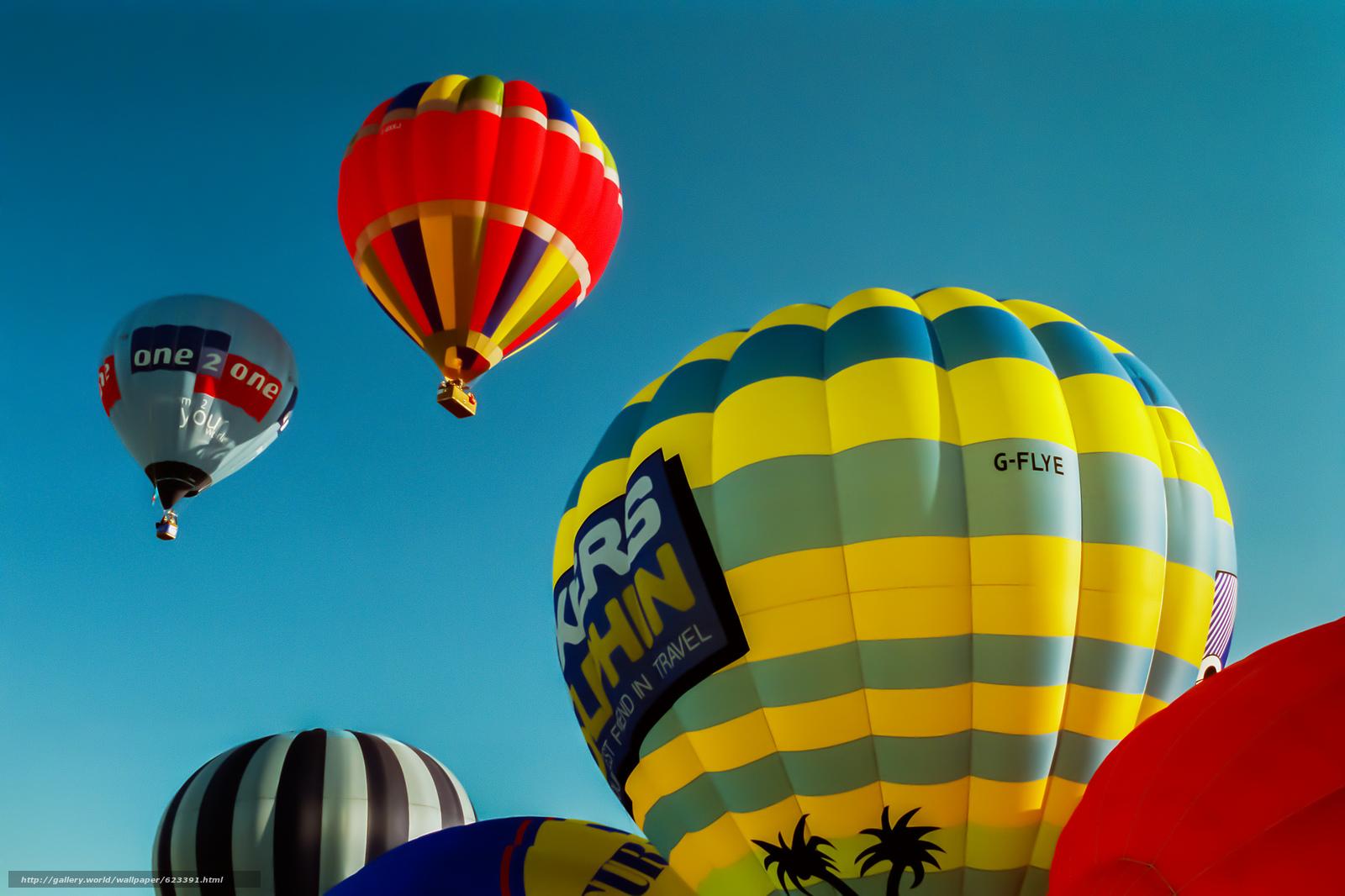 воздушные шары, небо, полёт