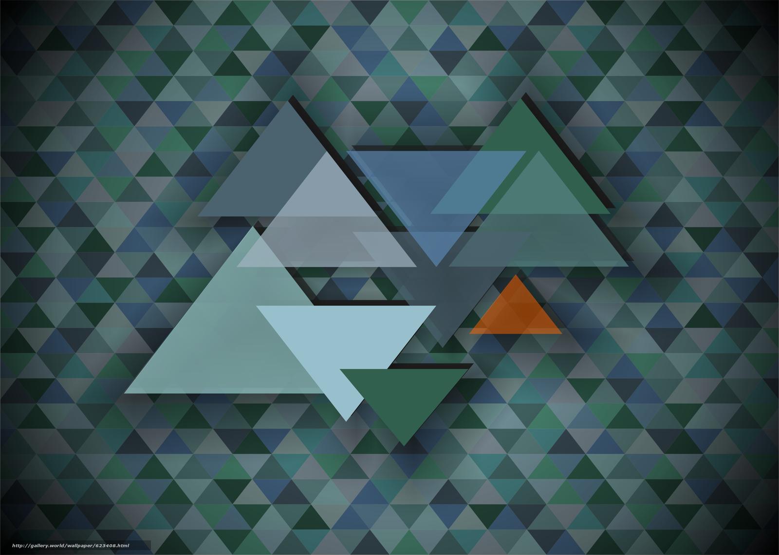 треугольник, мозаика, абстракция, фон
