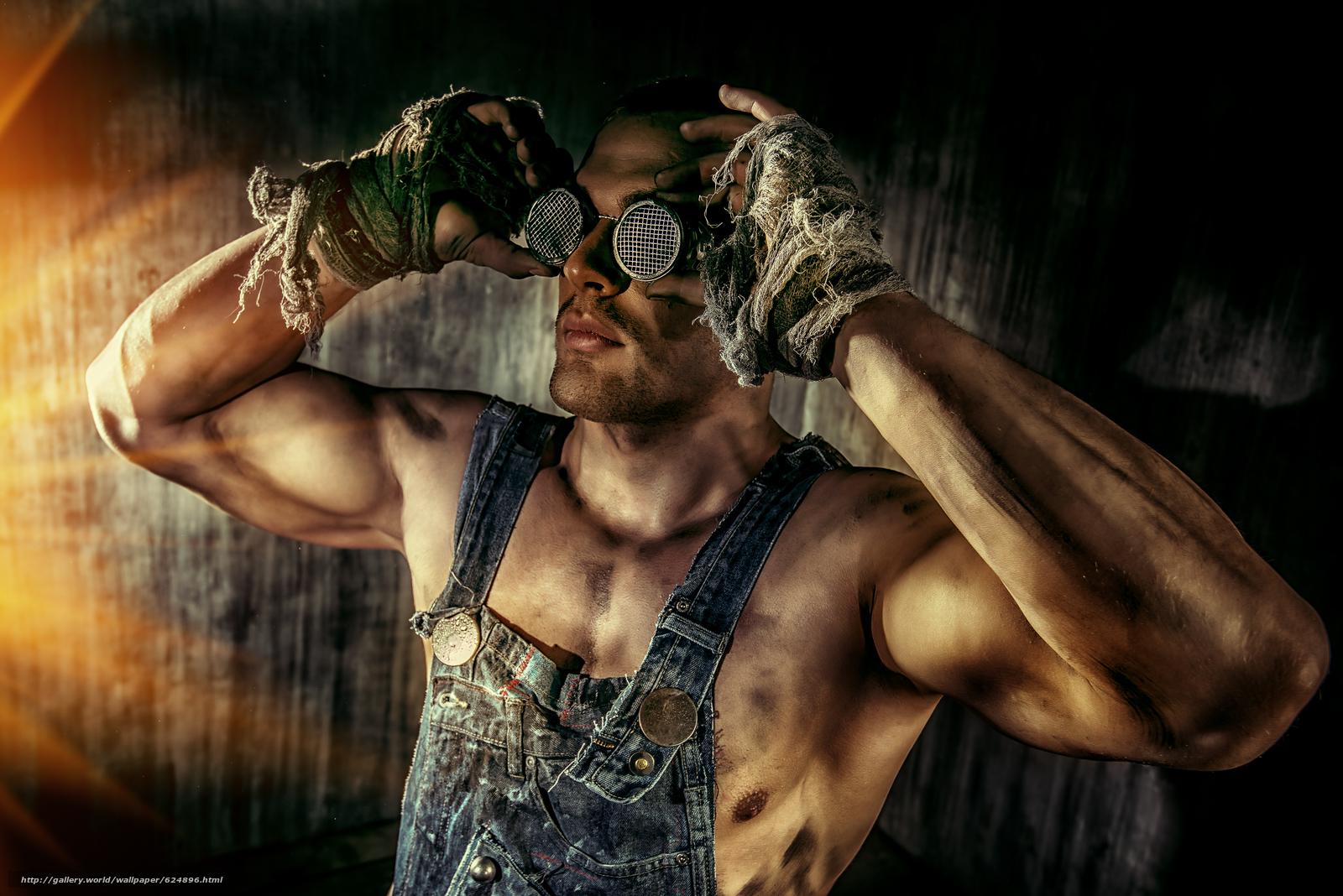 парень, чумазый, работяга, руки, очки