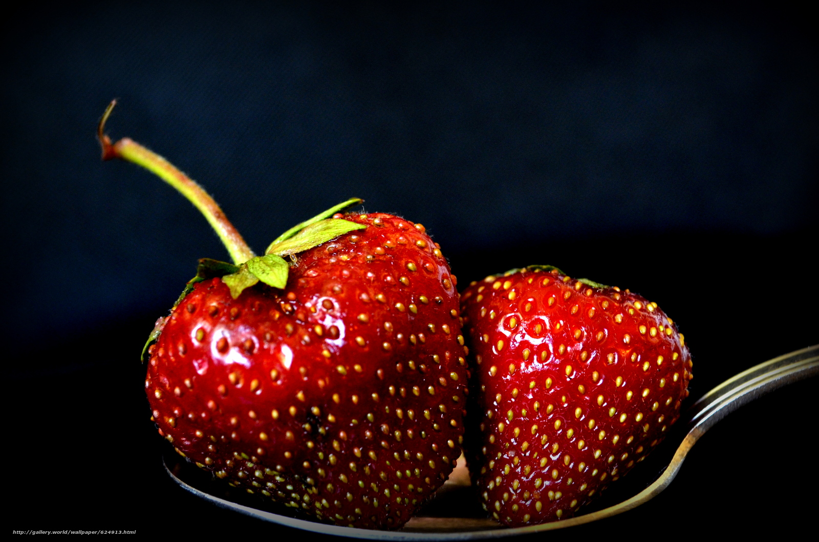 ложка, ягоды, клубника