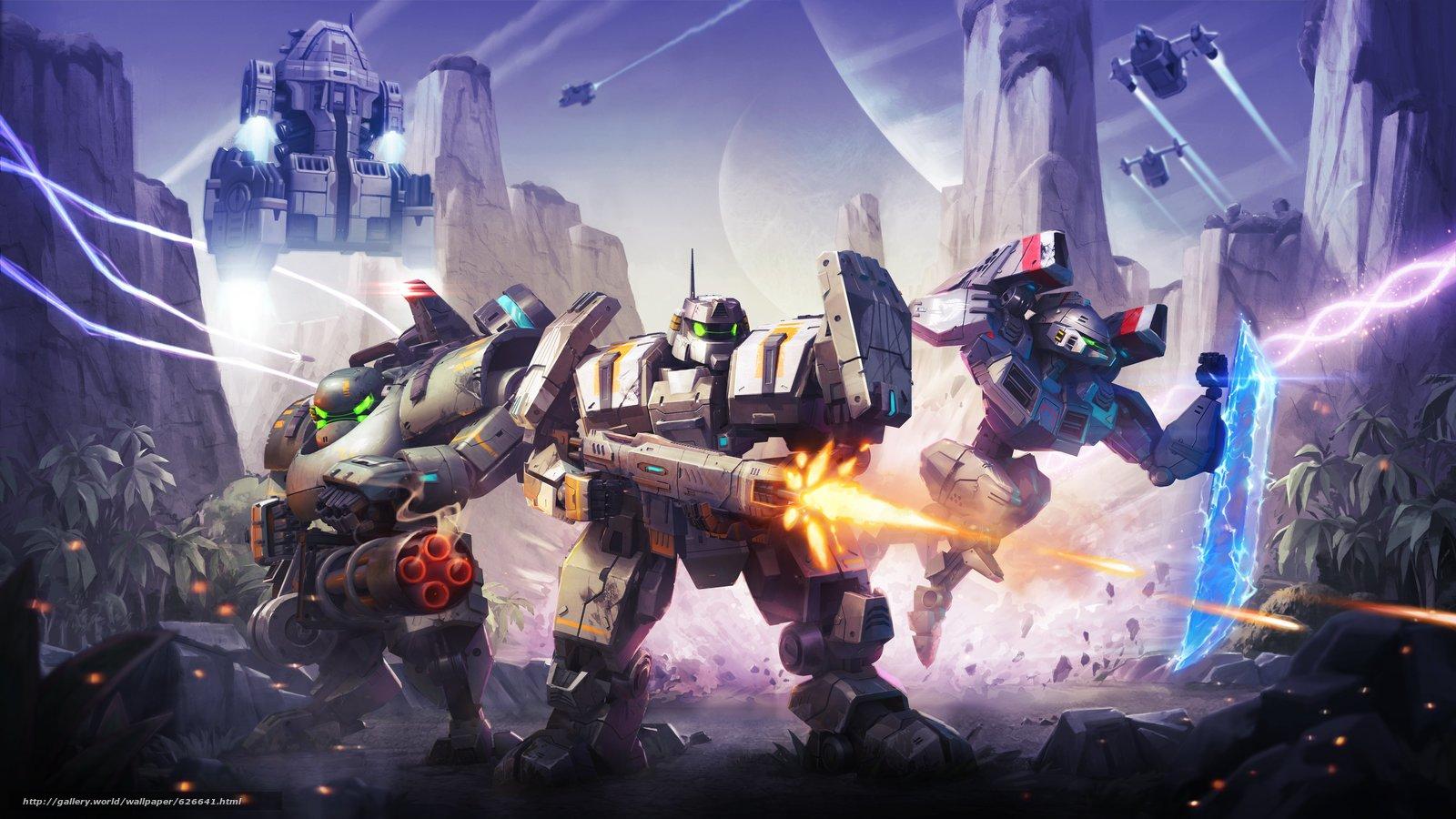 Dawn of Steel, роботы, звездолёты