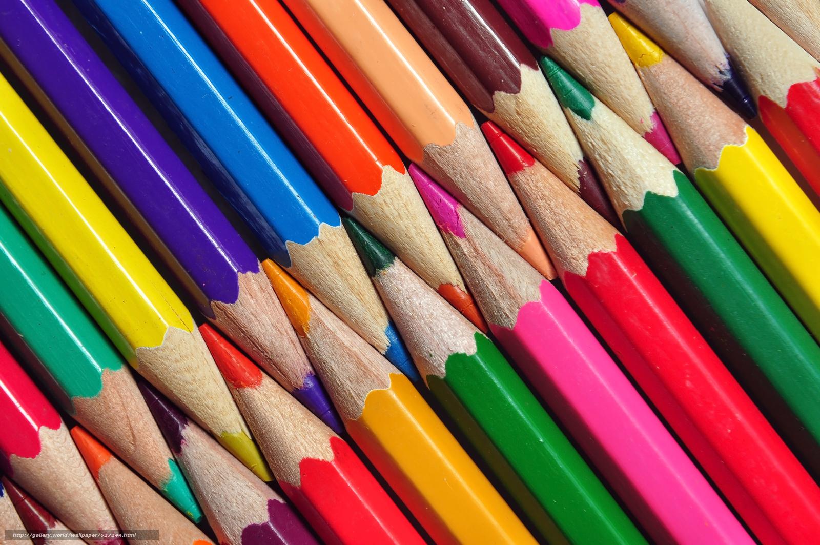 карандаши, цветные, текстура