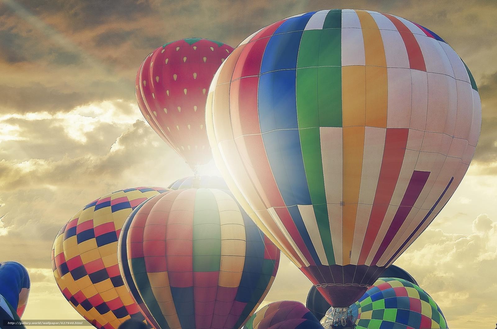 монгольфьеры, аэростаты, воздушные шары, небо