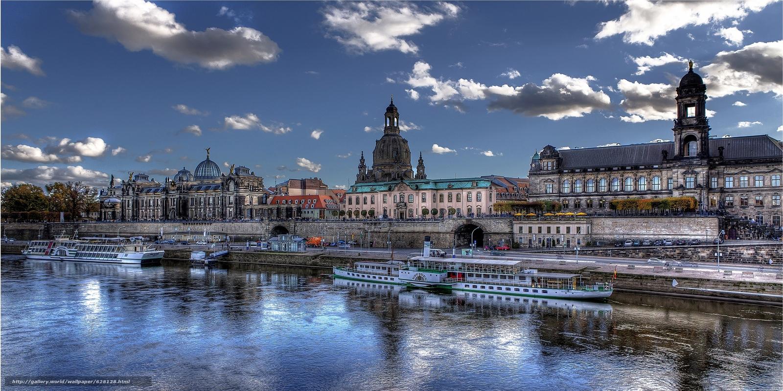 Дрезден, Германия, река Эльба
