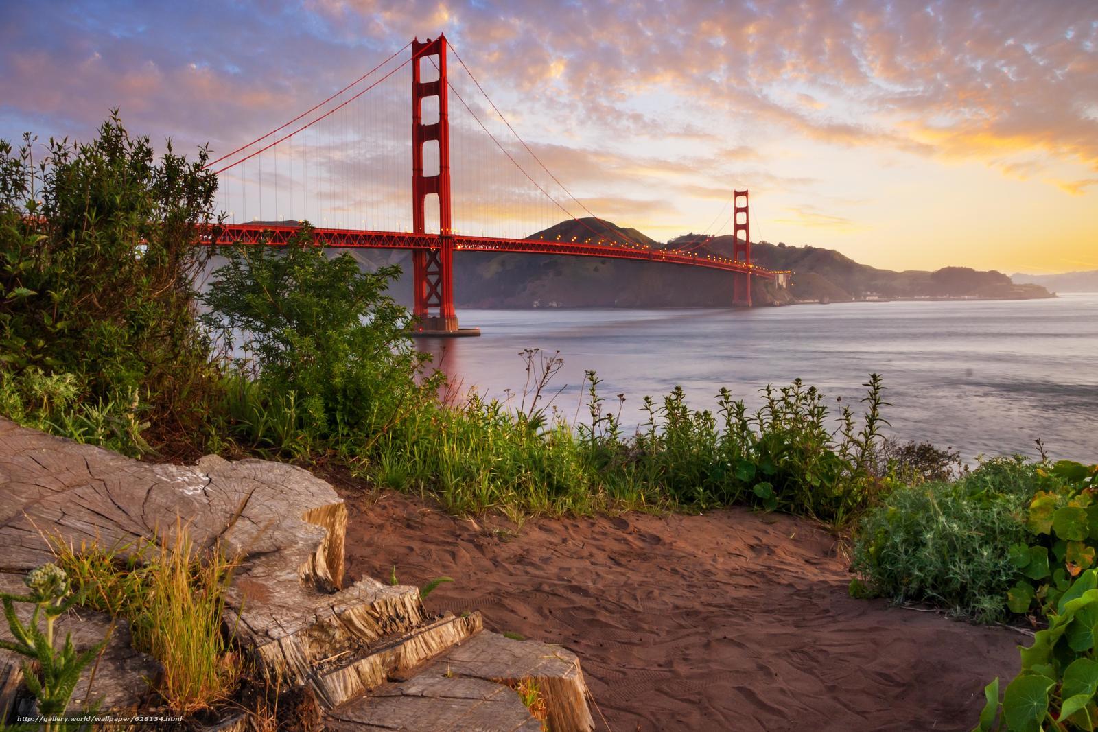 Мост Золотые Ворота, пролив Золотые Ворота, Сан-Франциско