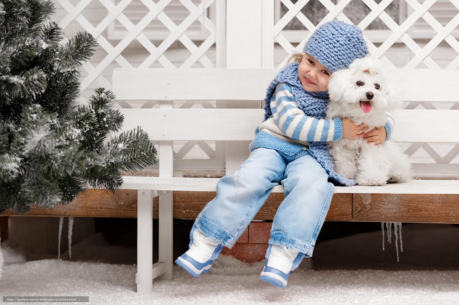 девочка, собака, дружба, друзья, настроение