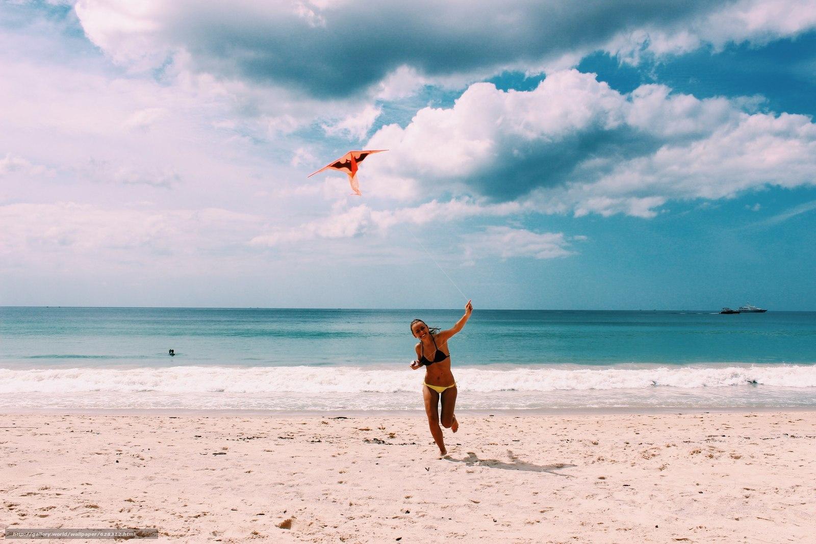 природа, море, девушка