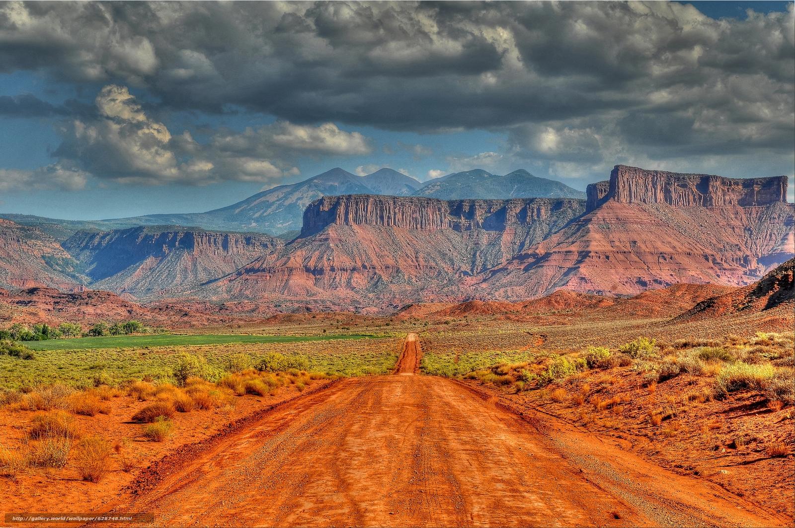 горы, скалы, дорога, Utah, пейзаж