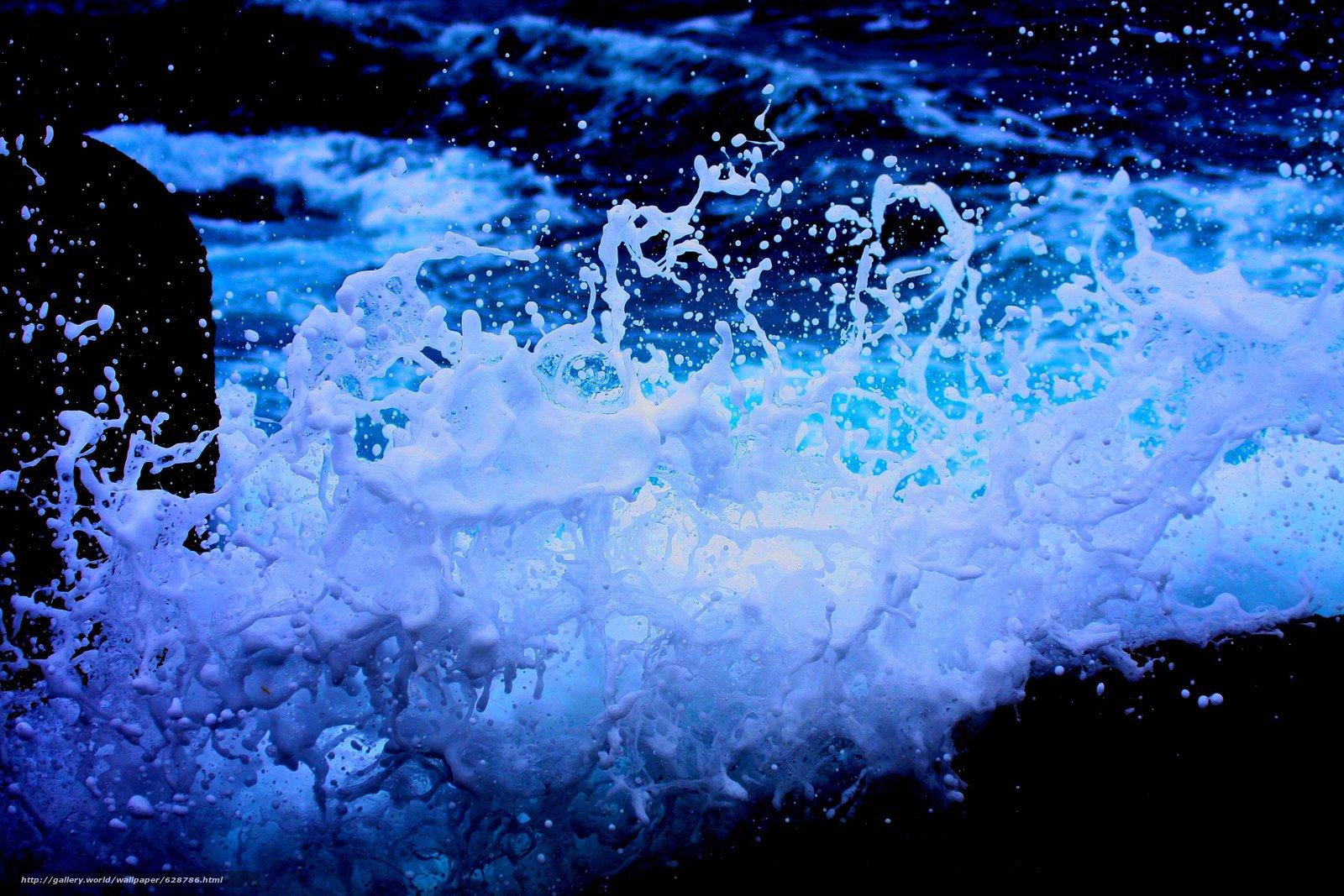 море, волна, брызги, пена