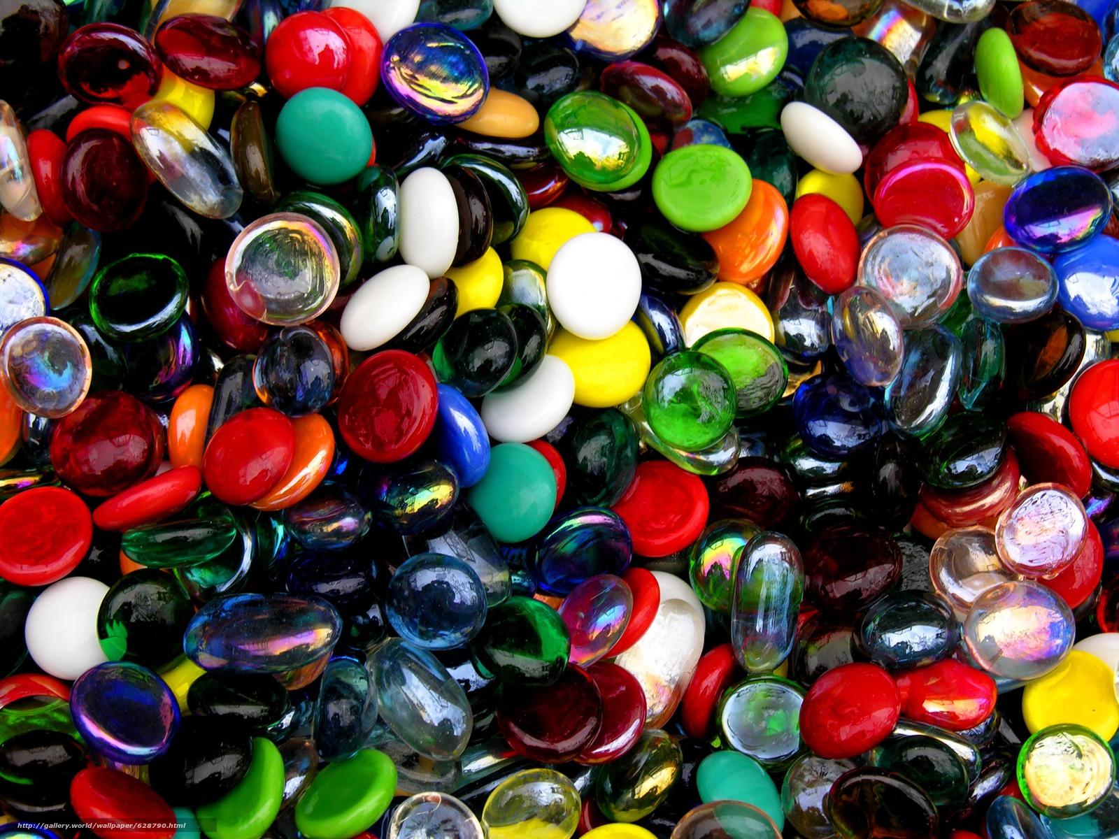 Стеклянные Камни, разноцветные, текстура