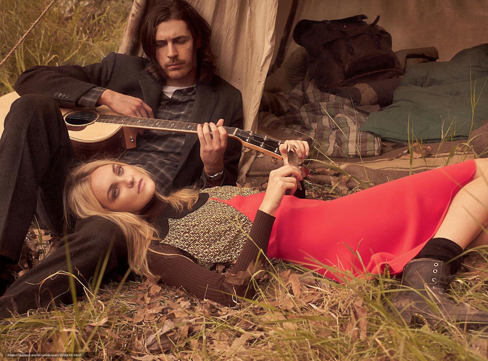 Hozier, Caroline Trentini, музыкант, модель, гитара, настроение