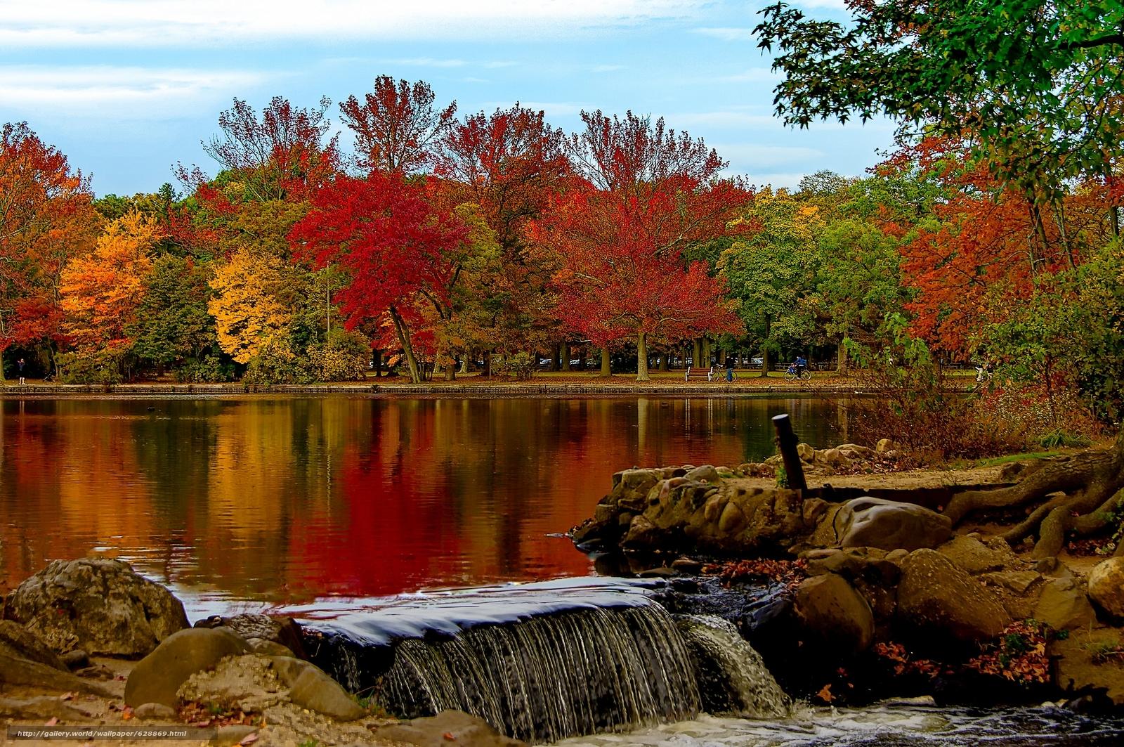 Belmont Lake, Belmont Lake State Park, Babylon, New York, Озеро Белмонт, Вавилон, штат Нью-Йорк, парк, осень, озеро, деревья