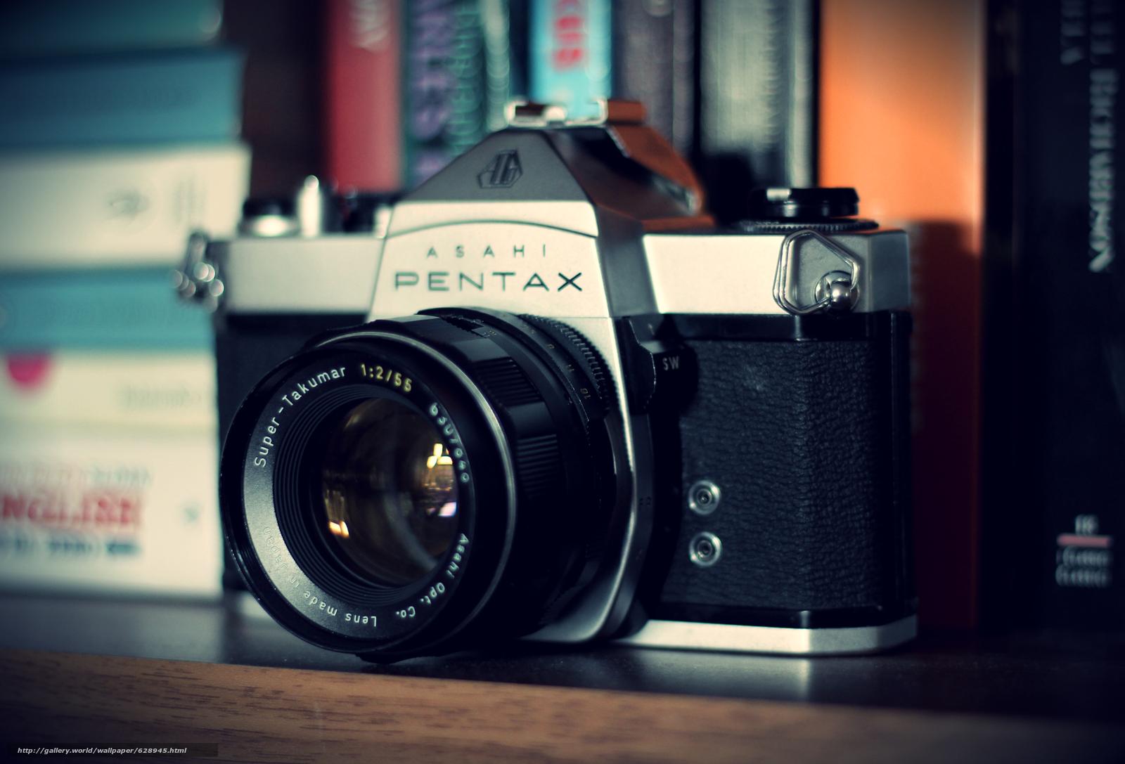 фотоаппарат, pentax, camera, камера, объектив, old