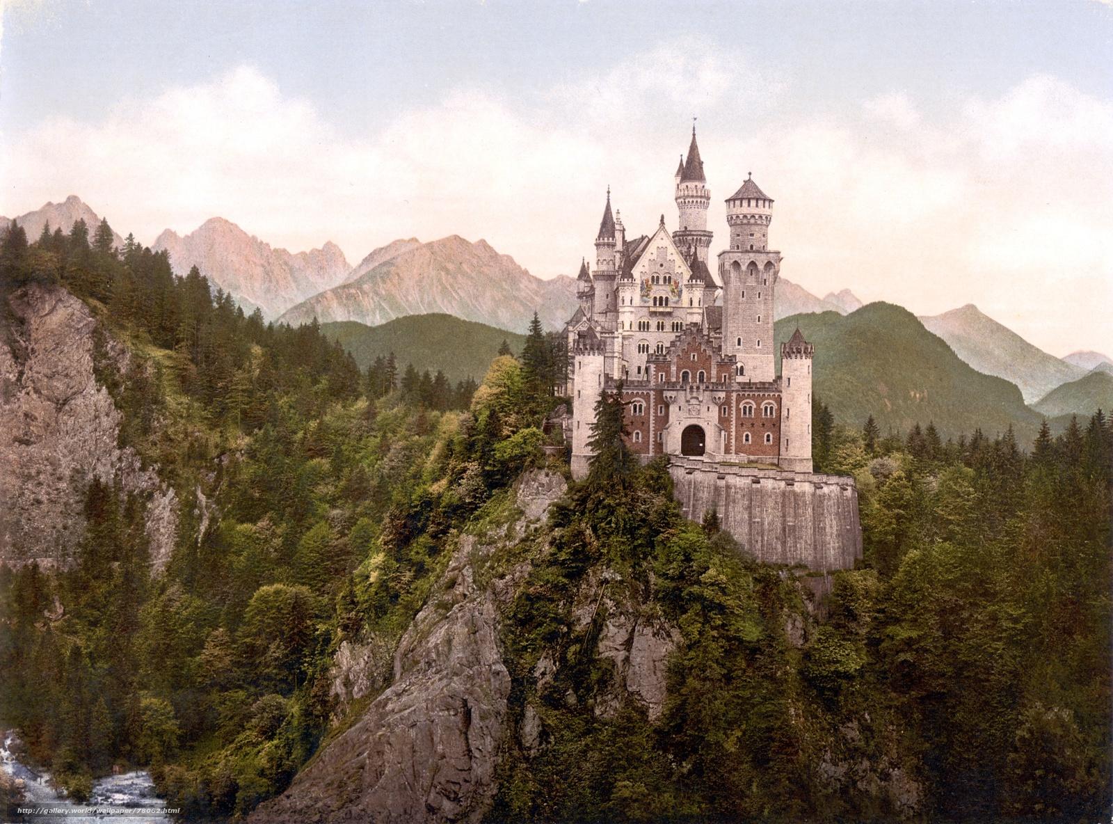 обои замки: