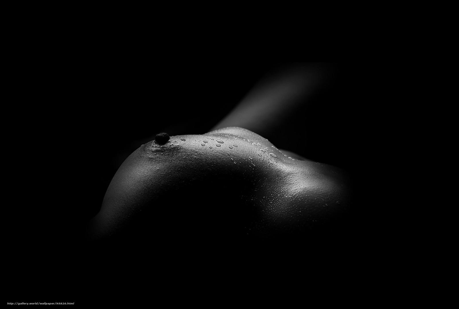 Черно белое фото девушек с большой грудью 7 фотография