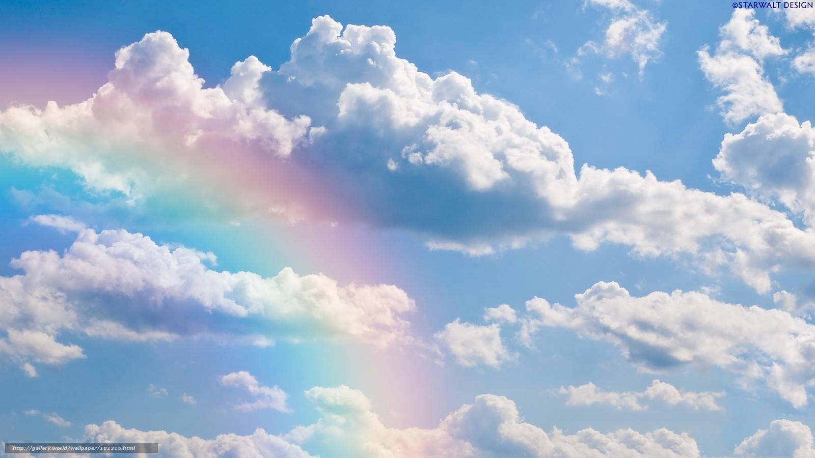 Tlcharger Fond d'ecran ciel, nuages, arc en ciel Fonds d ...