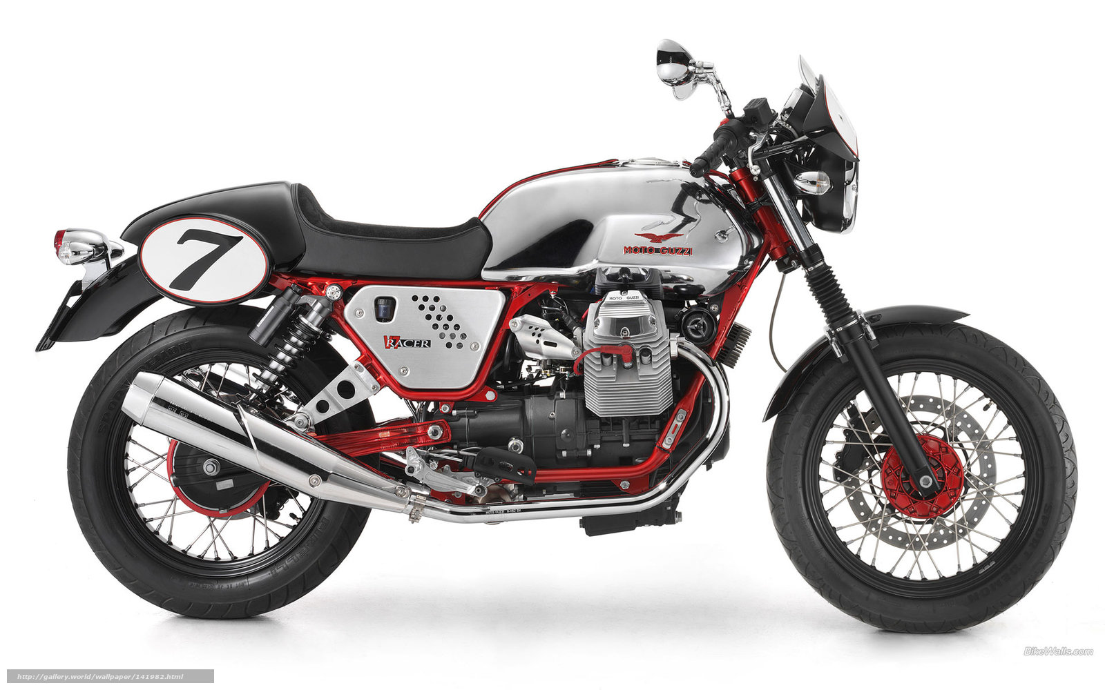 Download Wallpaper Moto Guzzi, Nakes, V7 Racer, V7 Racer