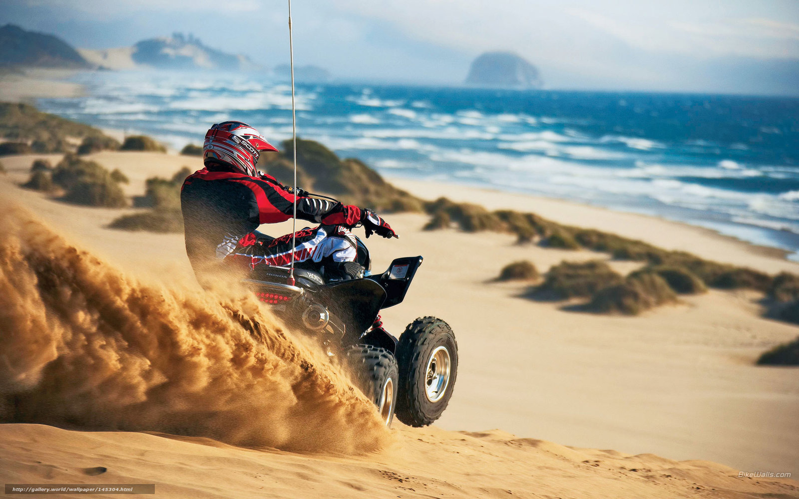 Motorcycle Racing On The Sand Suzuki Hd Desktop Mobile: Download Wallpaper Honda, ATV, TRX450R, 2006 TRX450R Free
