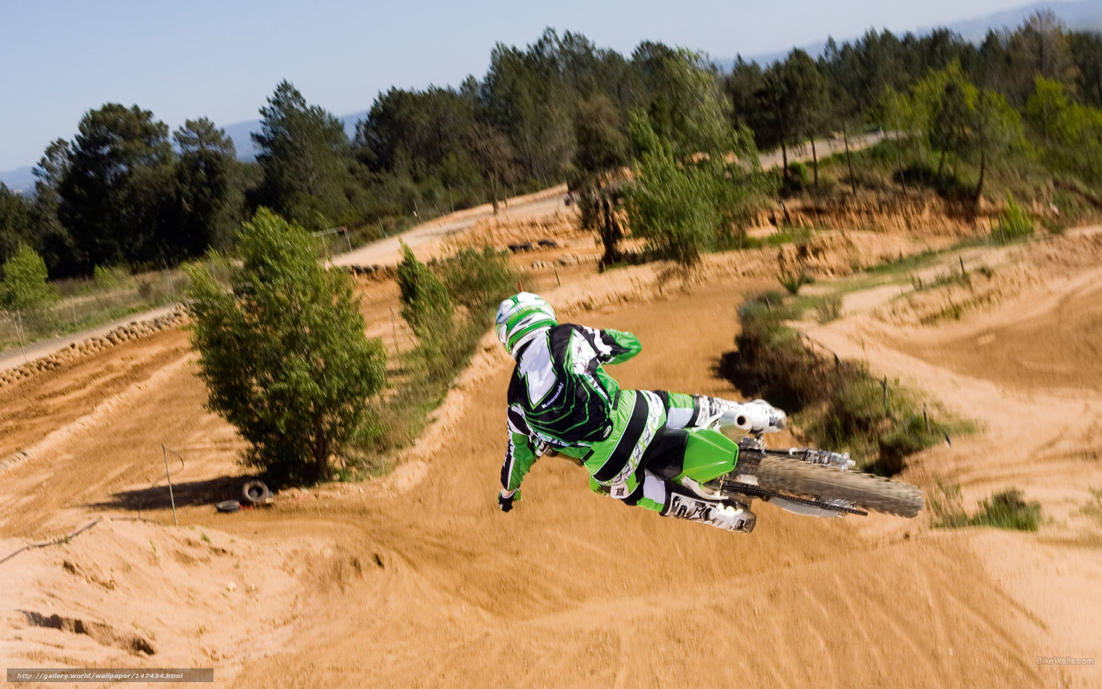 Download Wallpaper Kawasaki Motocross