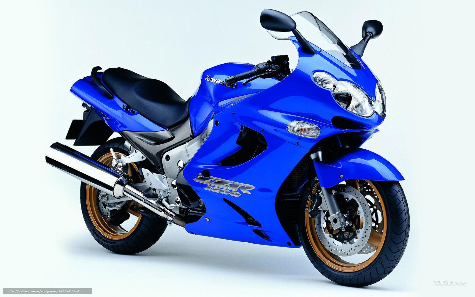 Download wallpaper Kawasaki, Tourer, ZZR1200, ZZR1200 2004 ...