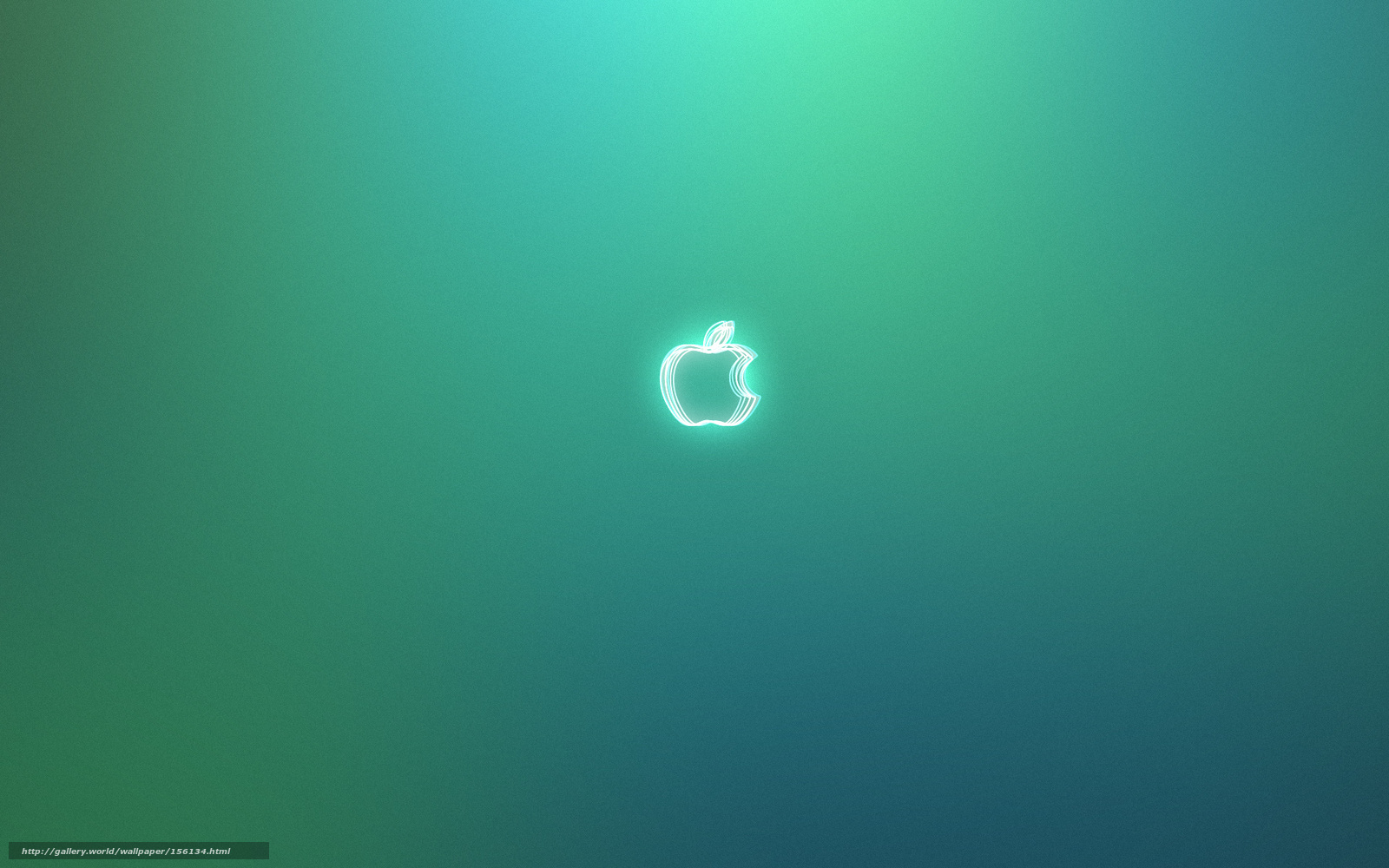 Download wallpaper neon, apple, logo free desktop wallpaper in the ...