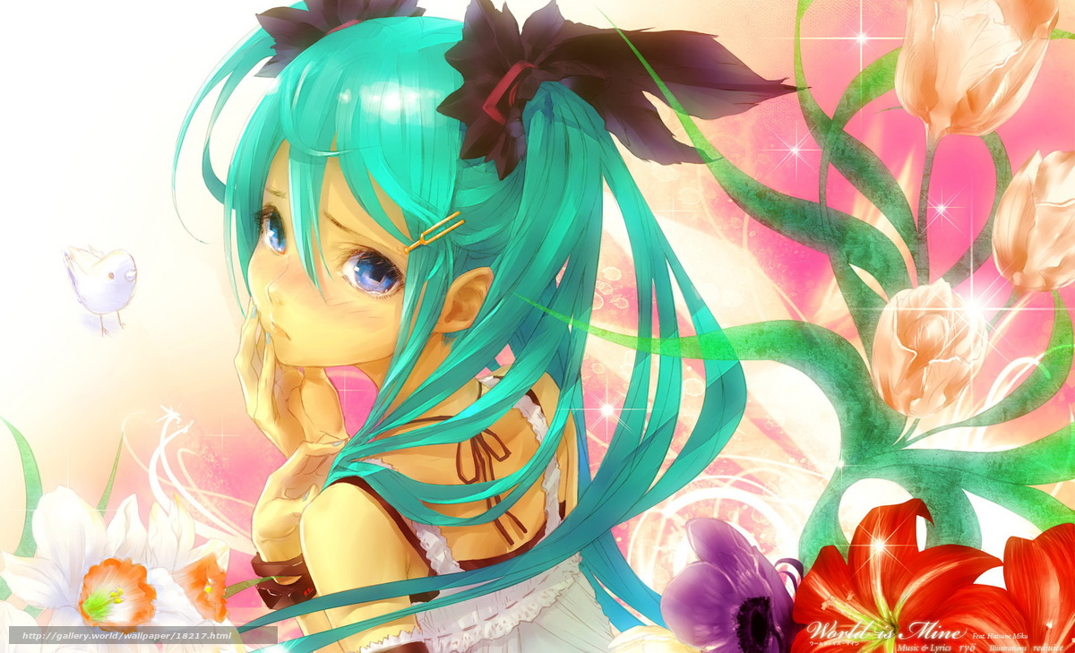 аниме, девочка, рисунок...