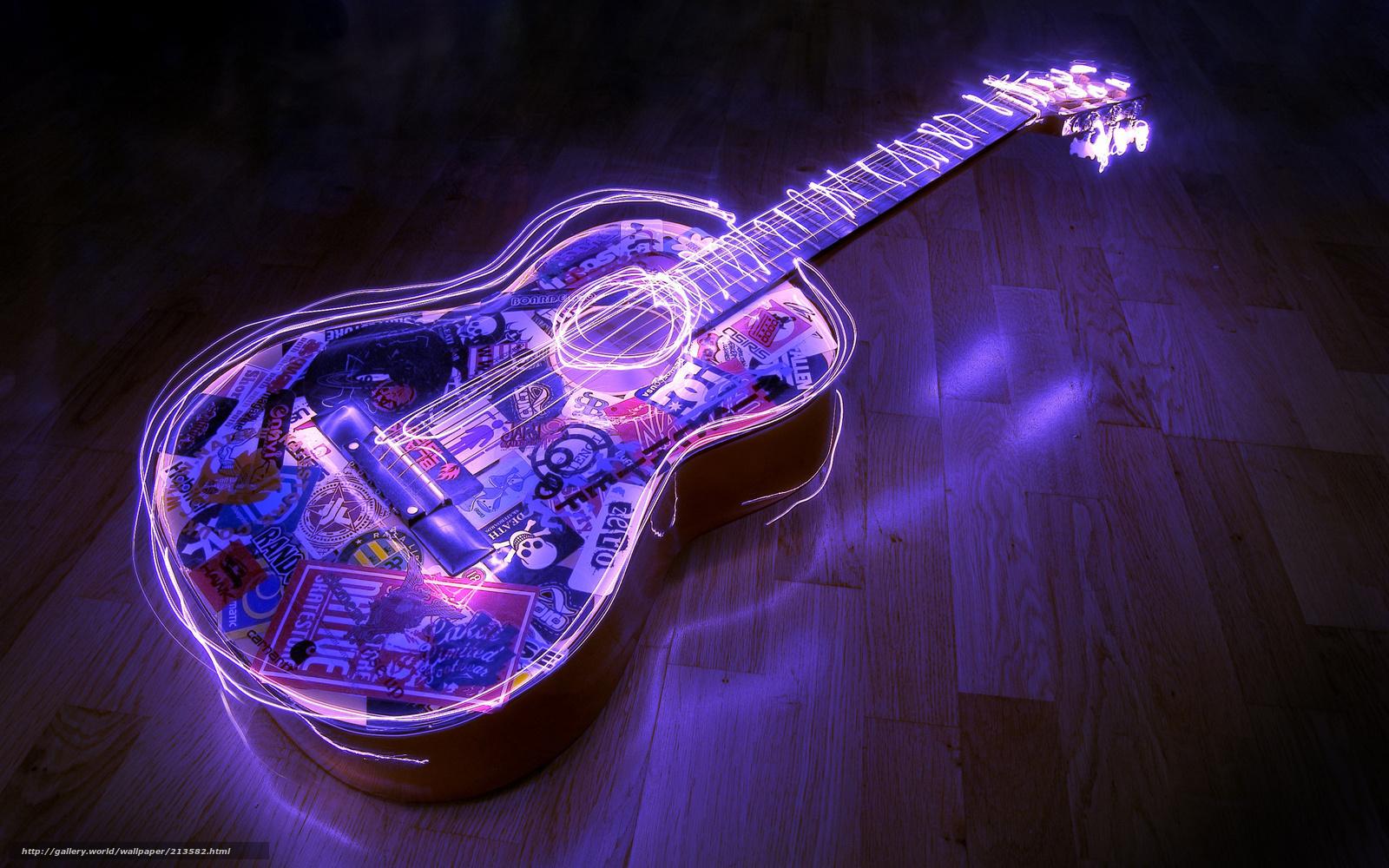 Download hintergrund neon gitarre boden freie desktop for Boden desktop