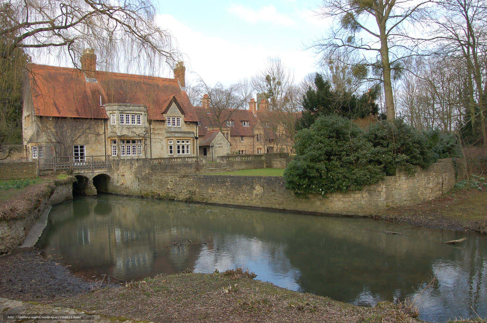 Download wallpaper England, village, creek, home free ...