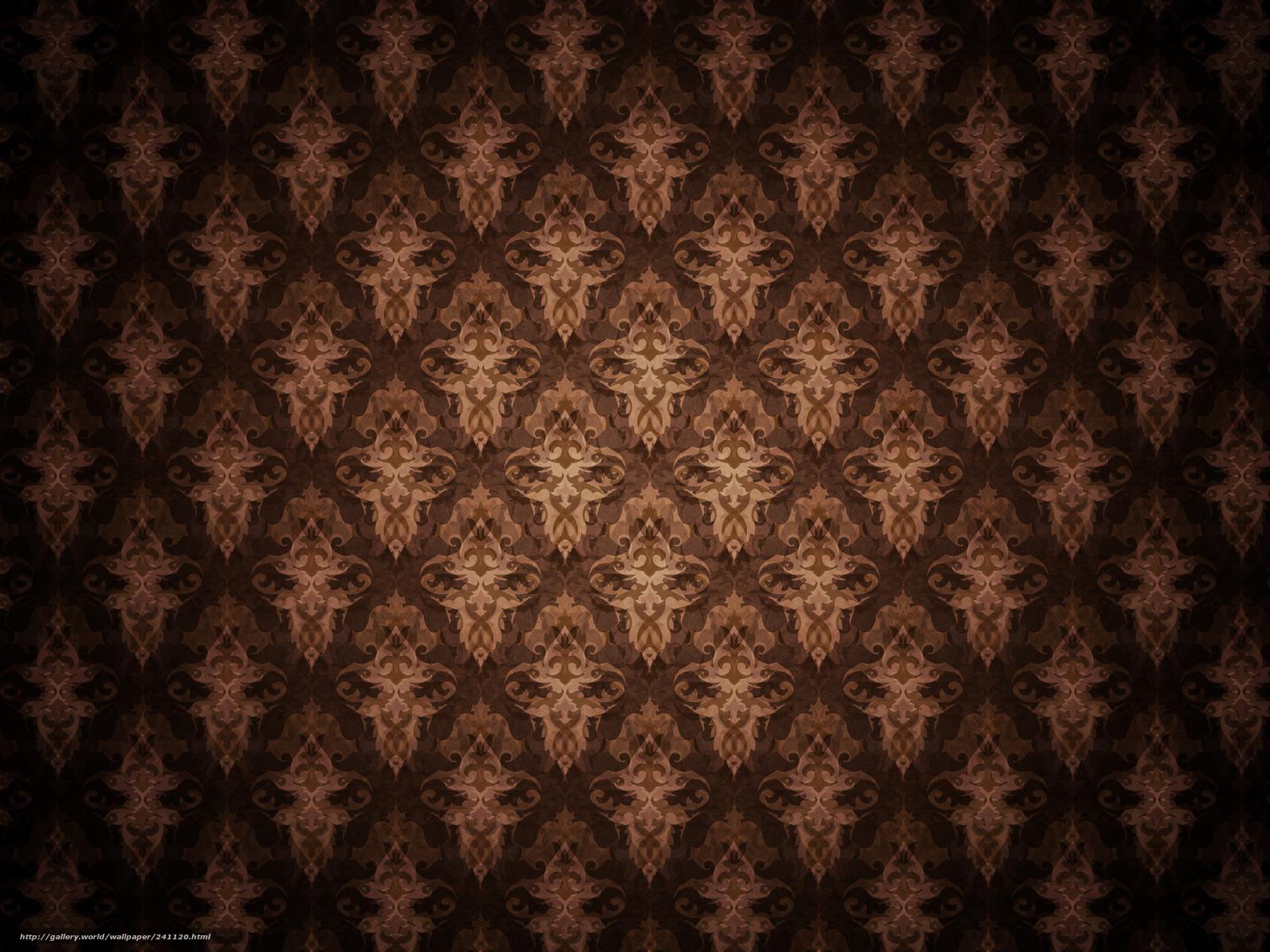 Original Vintage Tapeten : Brown Patterns