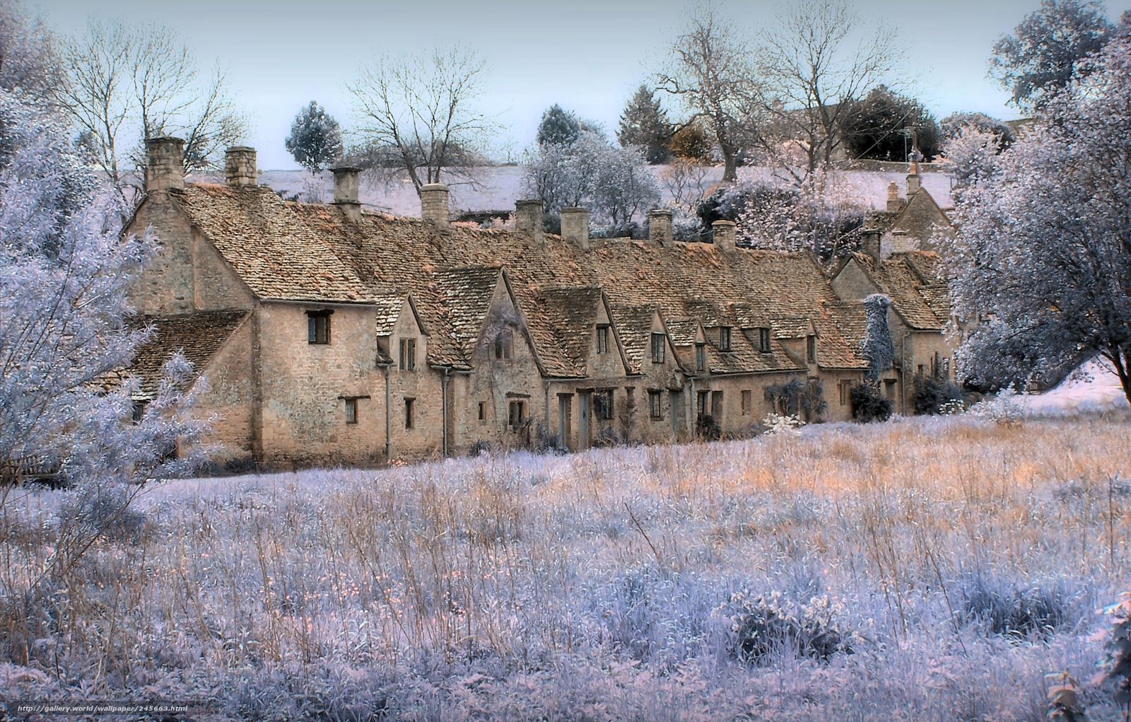 Download wallpaper england bieber bibury cottages free for Wallpaper home england
