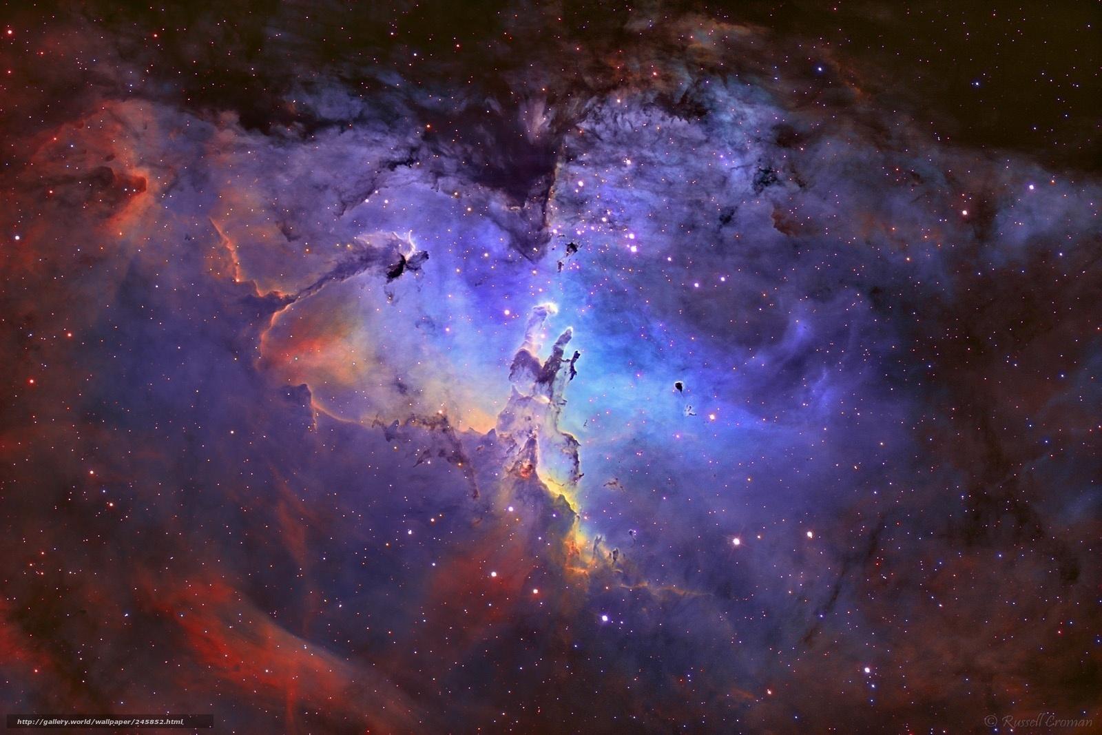 Обои туманность звезды космос