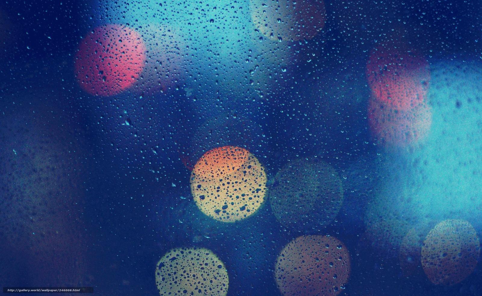 download wallpaper glass drops rain reflections free
