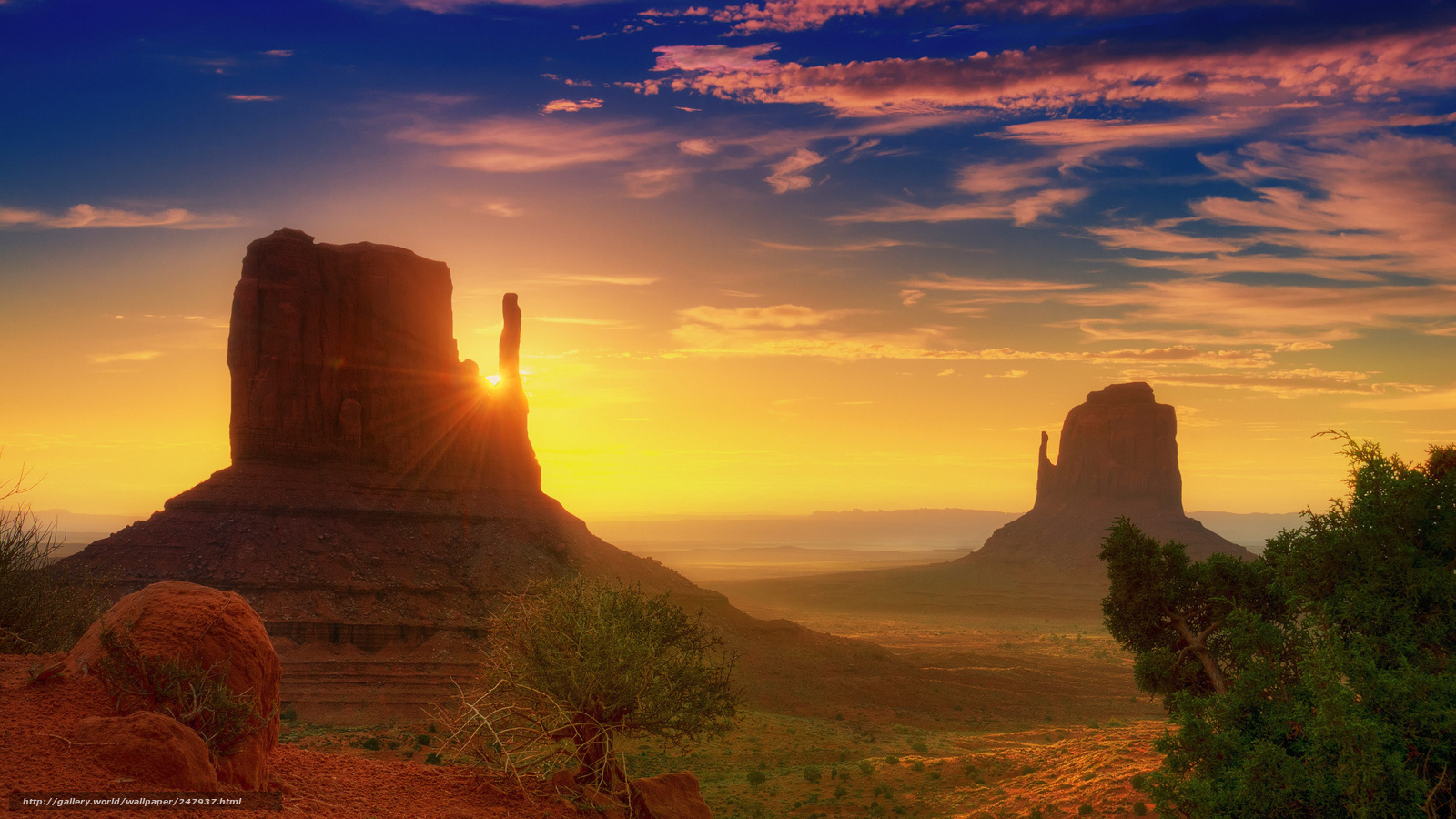 download wallpaper monument valley utah dawn rays free