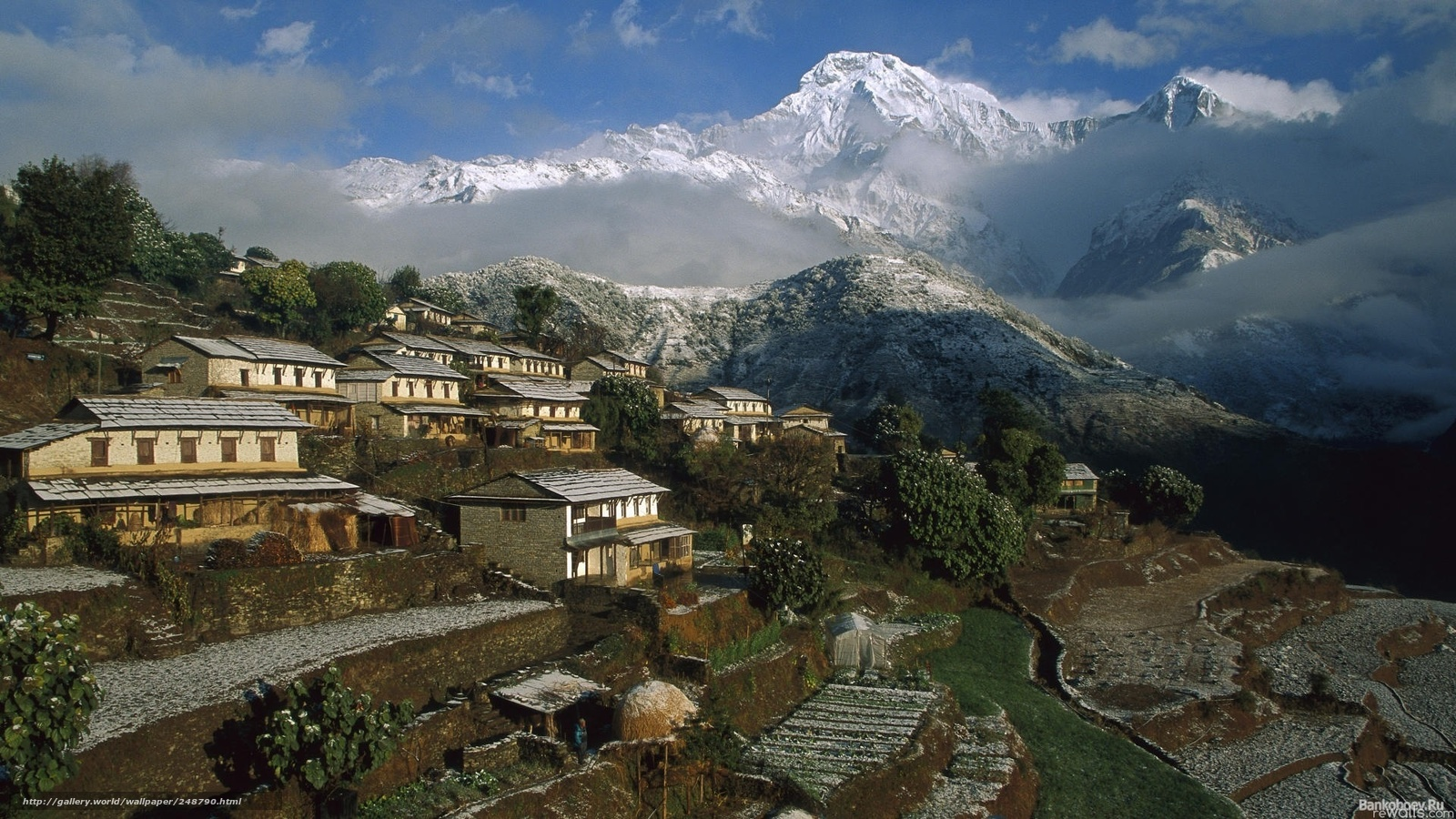 download wallpaper anapurna mountain nepal asia free