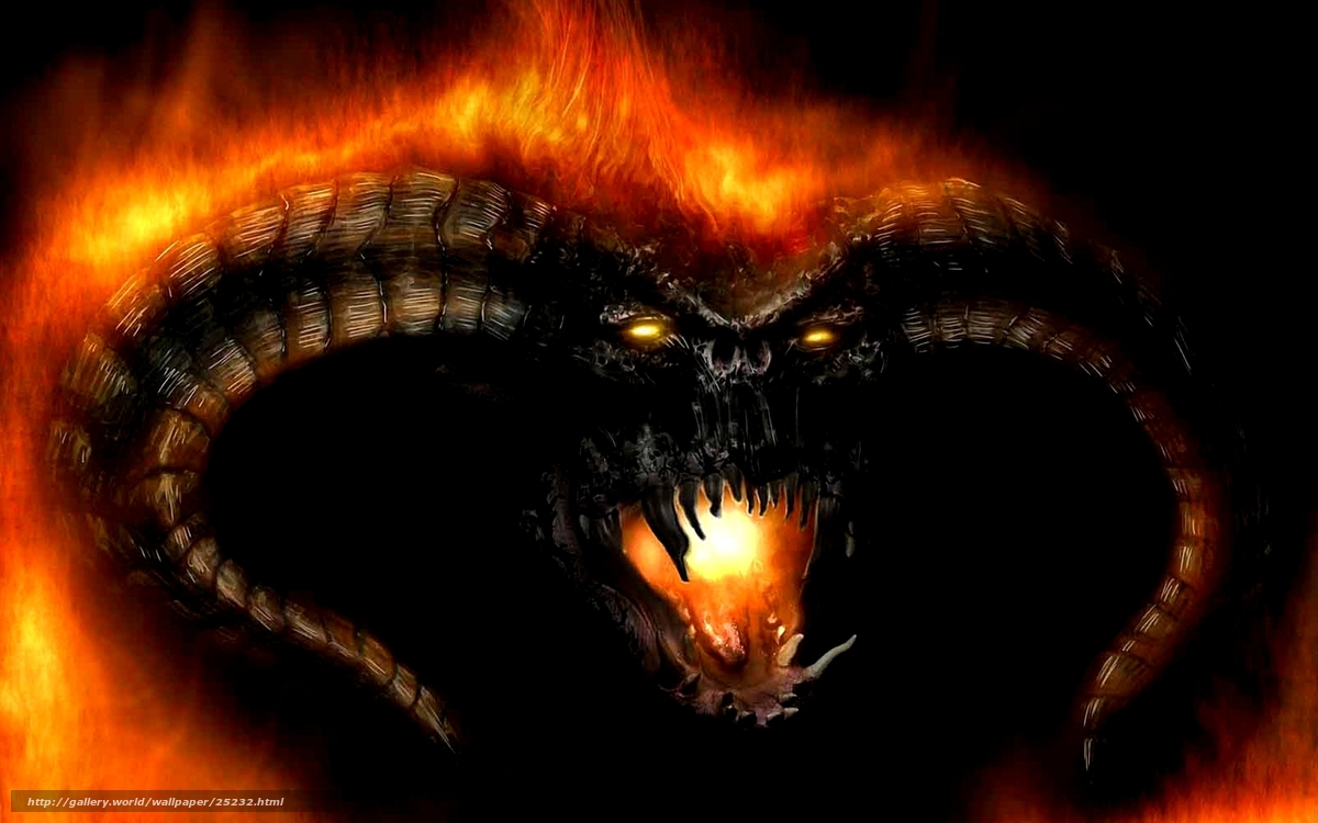 Lord Of The Rings Fire Monster