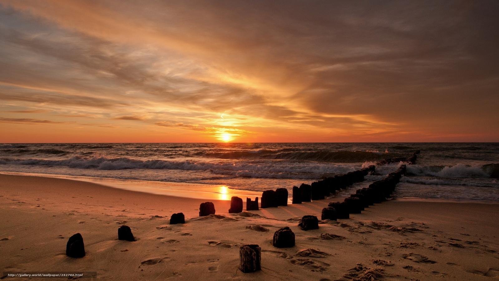 Tlcharger fond d 39 ecran coucher du soleil mer ciel fonds - Fond ecran coucher de soleil sur la mer ...