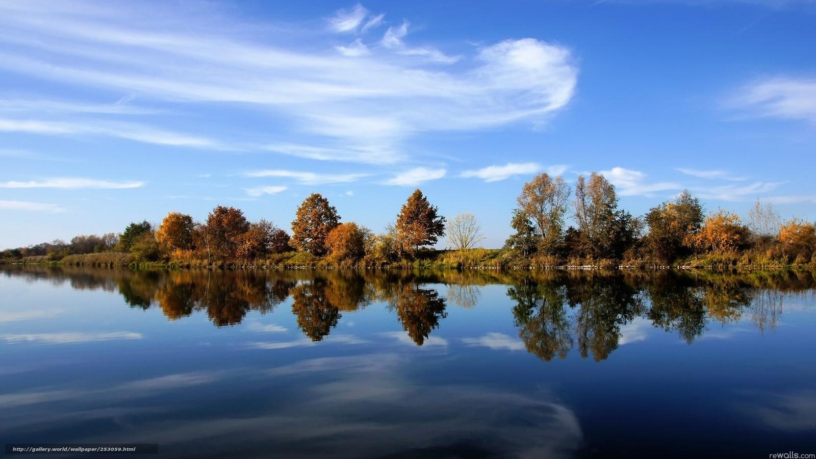 Tlcharger fond d 39 ecran lac ciel paysage fonds d 39 ecran for Bureau fond d ecran