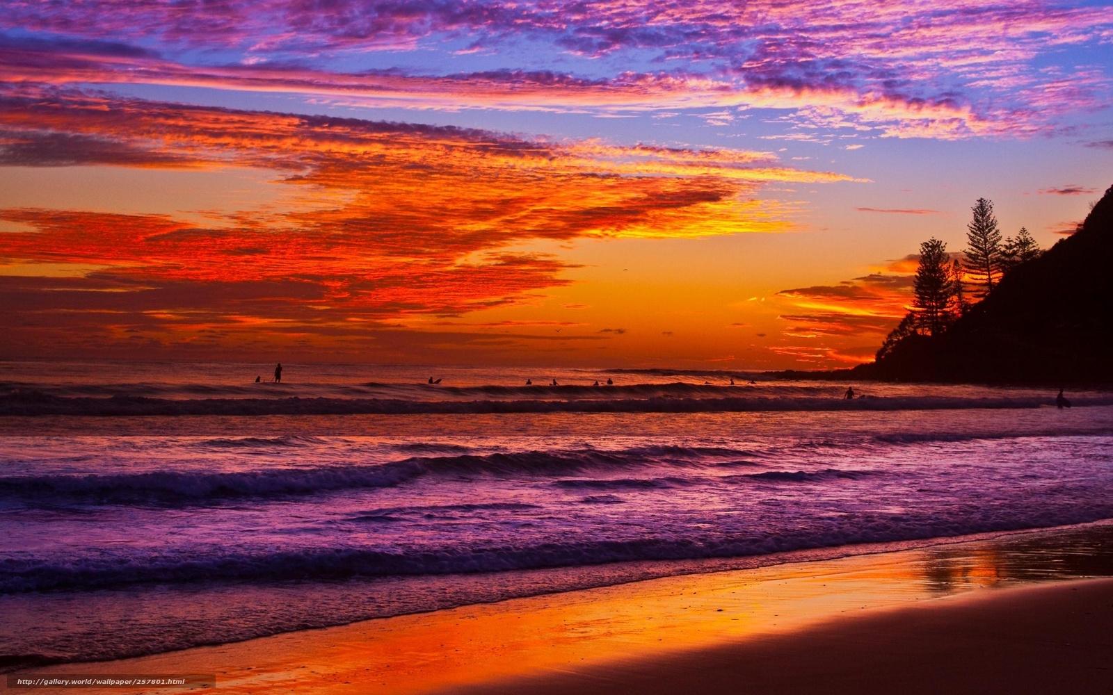 下载壁纸 日落, 海, 天空, hdr 免费为您的桌面分辨率的壁纸 2560x